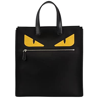 Amazon.com  Fendi Men s Monster-Creature Nylon Tote  Monster  Front ...