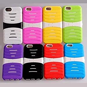 LIMME Stripes Antiskid PC+TPU Hybrid Case with Kickstand for iPhone 6 (Assorted Colors) , Blue