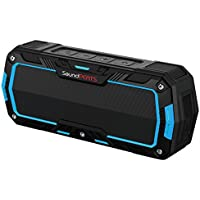 SoundPEATS Bluetooth Speakers Portable Wireless Speakers Waterproof Shower Speakers With Built-in Mic, IP65 Water Resistant, Dustproof, Dual 5W Drivers, 10 Hours Play Time - P3 Blue