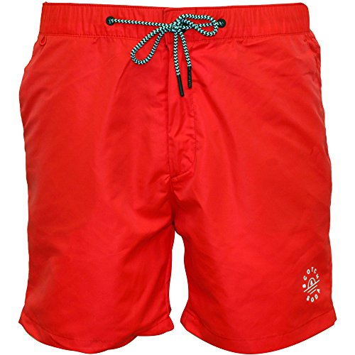 Scotch & Soda Men's Classic Swim Shorts, Coral Small Coral by Scotch & Soda