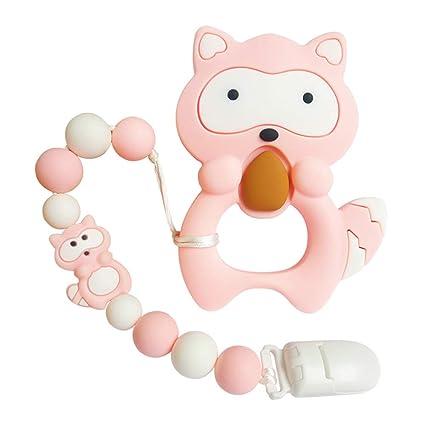 Amazon.com: Joylnk - Colgante de silicona para bebé, diseño ...