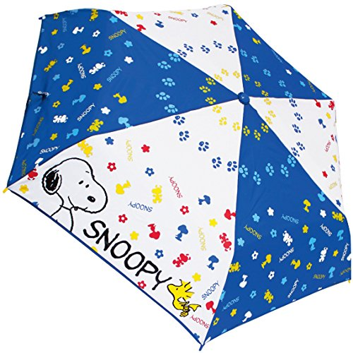 "Snoopy Folding Umbrella 93cm ""Snoopy Blue Pop"" Japan Import 90244"