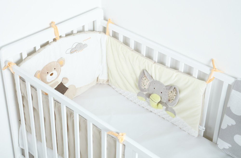 New MiniDream Baby Cot Bumper Nursery Childrens Luxury Bedding