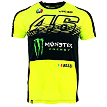 Valentino Rossi VR46 Moto GP Monster Energy Replica T-shirt Official 2017