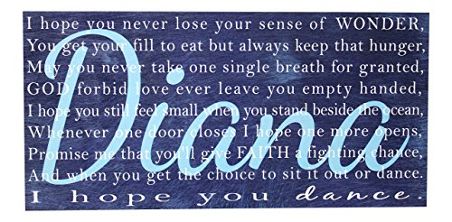 ''I Hope You Dance'' Lyrics Personalized on Wood or Canvas with Child's Name- Madi Kay Designs by Madi Kay Designs