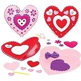 Kits Couture Coussin Cœur à assembler (Lot de 2) - Idéal comme cadeau de St Valentin ou de Fête des mères