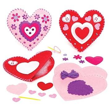 Nähsets Für Kissen U0026quot;Herzu0026quot; Für Kinder Zum Basteln Mit  Geschnittenen Teilen Und Plastiknadel
