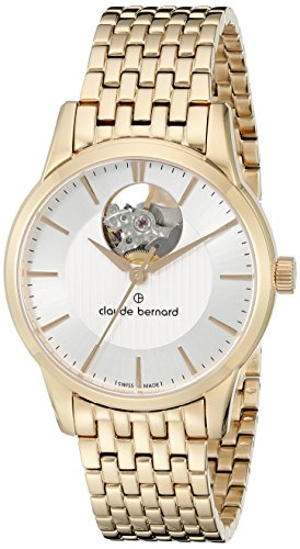 Claude-Bernard-Womens-85018-37RM-AIR-Automatic-Open-Heart-Analog-Display-Swiss-Automatic-Rose-Gold-Watch