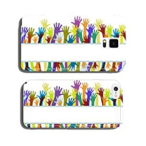 Colorful hands on white background cell phone cover case iPhone5