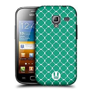 AIYAYA Samsung Case Designs Emerald Quatrefoil Protective Snap-on Hard Back Case Cover for Samsung Galaxy Ace 2 I8160