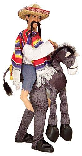 Man Riding Donkey Costume (Forum Novelties Men's Hey Amigo Costume, Multi, One Size)