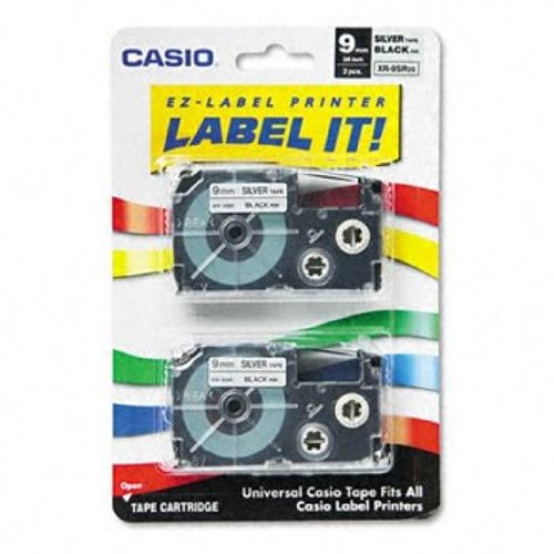 Casio Inc. XR9SR2S Tape Cassette for Label (Casio Ez Label Tape)