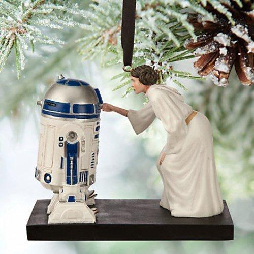 disney store star wars princess leia R2-D2 ornament new with box
