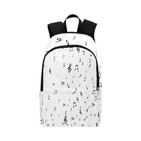 Amazon com: Dark Musical White Music Symbols Casual Daypack