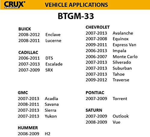 CRUX BTGM-33 Bluetooth Handsfree with Music Streaming for Select GM Vehicles