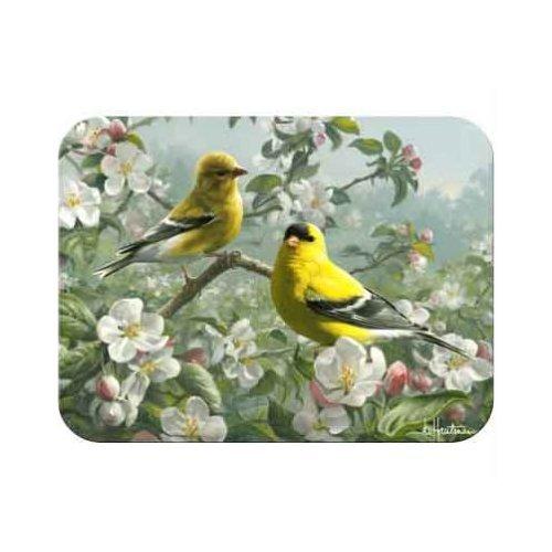 Tuftop Orchard Goldfinch Cutting Board Size: Medium (12