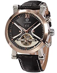 AMPM24 Rose Gold Tourbillon Automatic Mechanical Date Day Men's Leather Band Wrist Watch PMW333