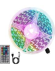 Ledstrip, RGB ledstrip, 3 m, 180 leds, 5050 RGB, flexibel, snijbaar, 20 kleuren, 6 modi, met USB-interface en afstandsbediening, 44 toetsen, voor thuis- en bruiloftsdecoratie