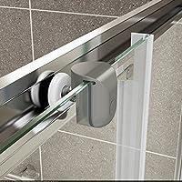 Baños de estilo moderno ValueBaths Fenwick 1500 mm deslizante doble juego de puertas de cabina de mampara de ducha: Amazon.es: Bricolaje y herramientas