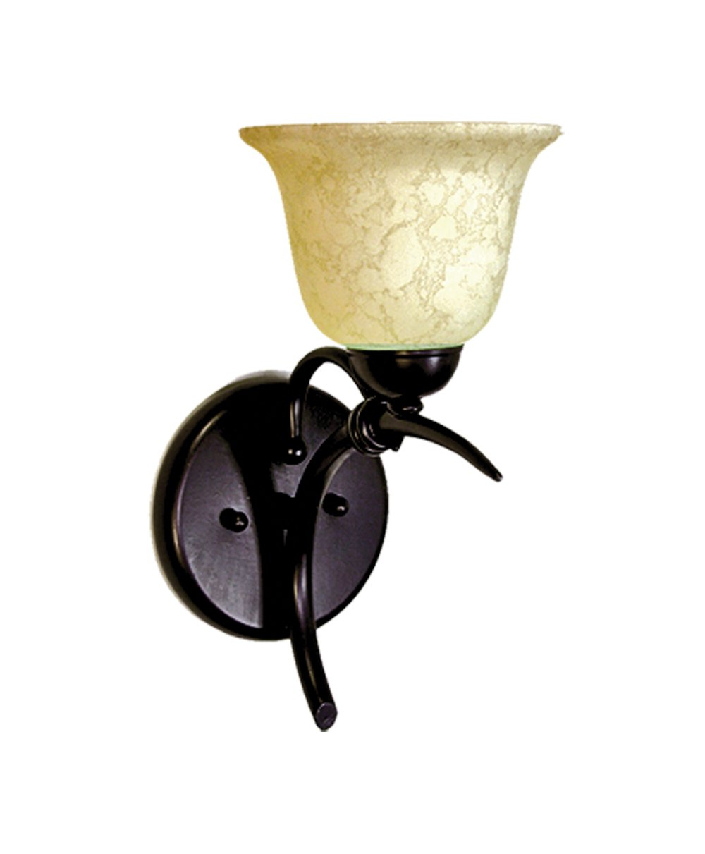 Marquis Lighting 2711-170-GB Wall Sconce with Beige Scavo Glass Shades Golden Bronze