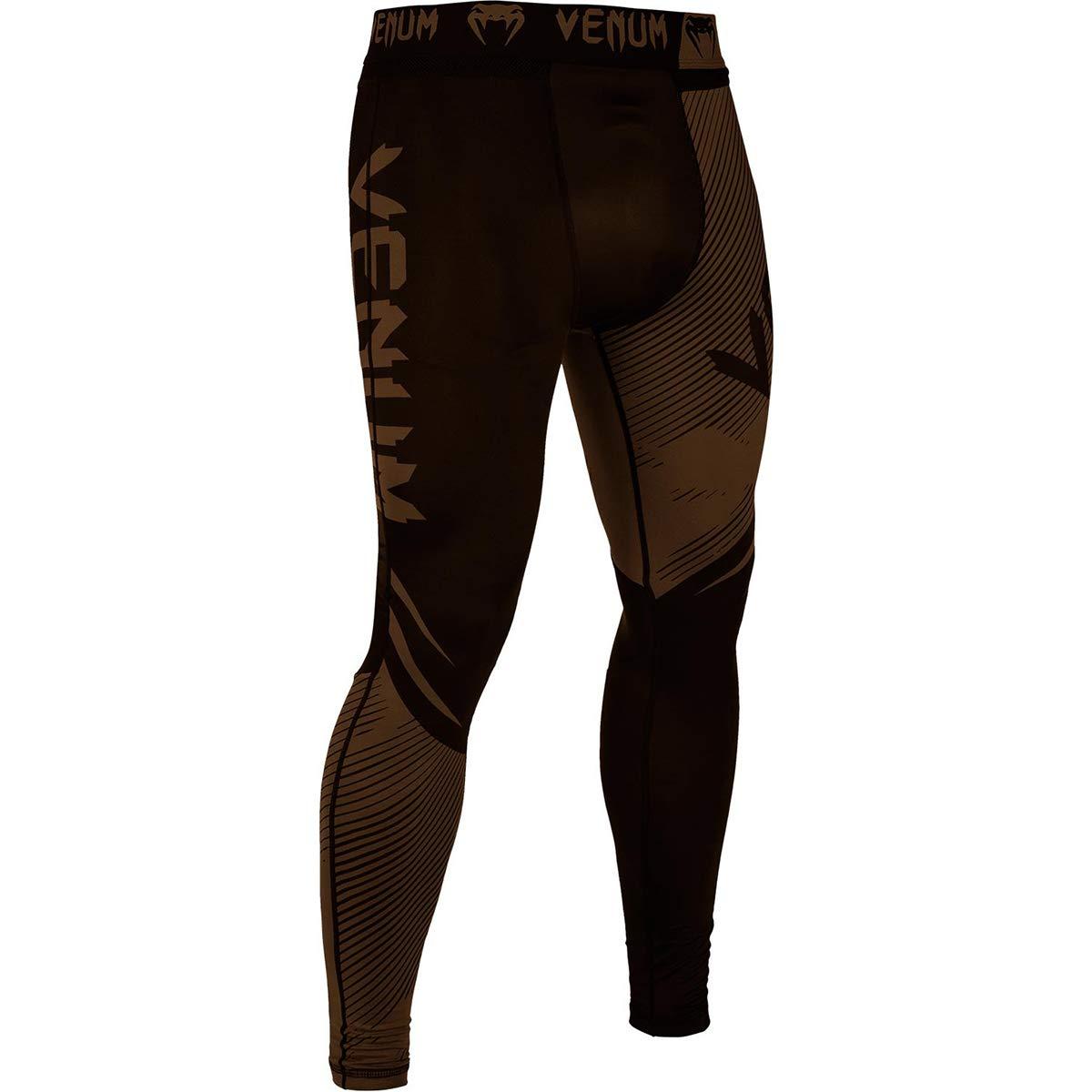 Venum No-Gi 2.0 MMA Compression Spats - XL - Black/Brown by Venum
