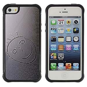 Be-Star único patrón Impacto Shock - Absorción y Anti-Arañazos Funda Carcasa Case Bumper Para Apple iPhone 5 / iPhone 5S ( Snow Smiley )