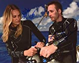 ASHLAN & PHILIPPE COUSTEAU - Caribbean Pirate Gold AUTOGRAPHS Signed 8x10 Photo