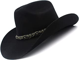 MUMUWU Wool Women Men Felt Cowboy Hat Gentleman Felt Cowgirl Jazz