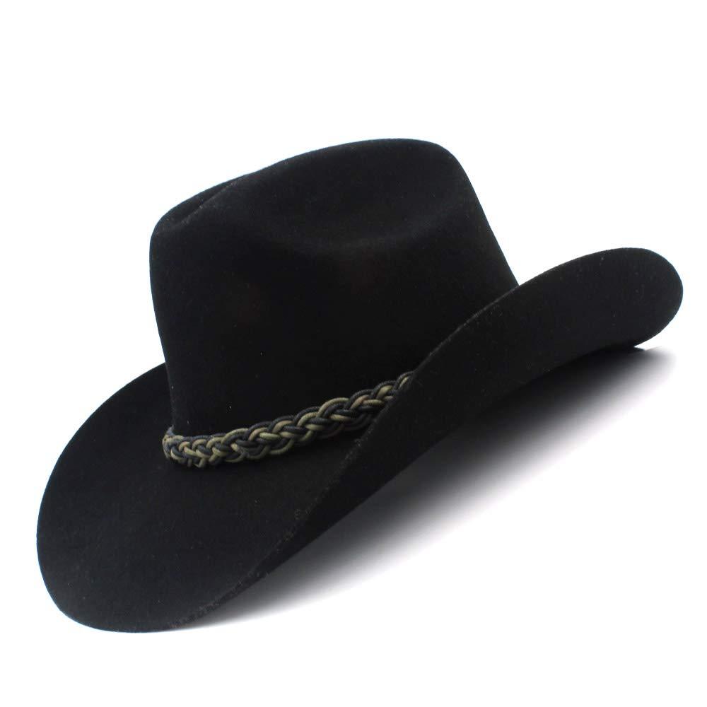 1 L.Z.H Wool Women Men Felt Cowboy Hat Gentleman Felt Cowgirl Jazz
