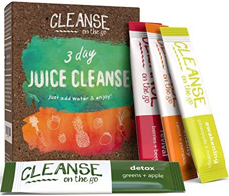 3 Day Juice Cleanse – Just Add Water & Enjoy – 21 Single Serving Powder Packets