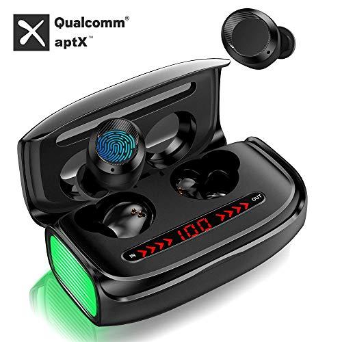Wireless Bluetooth Kopfhörer, In Ear Ohrhörer mit【3000 mAh Ladebox】 Deep Bass 170h Spielzeit CVC 8.0 Noise Canceling APTX Touch Control LED Anzeige Sport Kopfhörer Built-in Mic Bluetooth 5.0 Headset