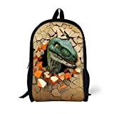 UNICEU Animals Backpack Dinosaur Print Kids School Bags Primary Elemenary Bookbags Travel Bagpack
