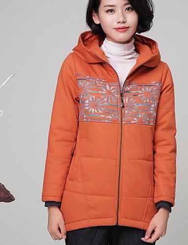 poliéster verde TT algodón liso Casual larga relleno manga ShangYi Simple YYYURONG Abrigo mujer amp; de vqd6P6x