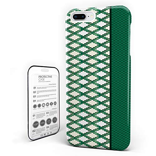 iPhone 7 Plus Case/iPhone 8 Plus Case St. Patrick's Day Design Hard Plastic PC Ultra Thin Protective Phone Case Cover Compatible iPhone 7 Plus/8 Plus(5.5 inch) Irish Ireland Green Plaid Mosaic Design