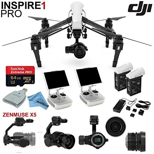 DJI-Inspire-1-Pro-Quadcopter-Drone-with-eDigitalUSA-Ready-To-Fly-Kit-Includes-Extra-TB47B-Battery-2-Wireless-Transmitters-and-more
