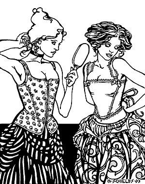c5868c4297 Amazon.com  Medieval or Renaissance Corset or Bodice Pattern  Arts ...