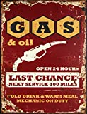 Gas and Oil Decorative Metal Sign Retro Large 13 X 10 Inches Bar Pub Garage Man Cave