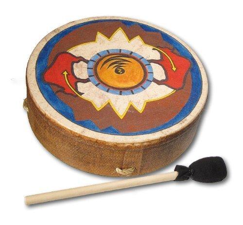 remo 12 inch buffalo drum with sun buffalo design
