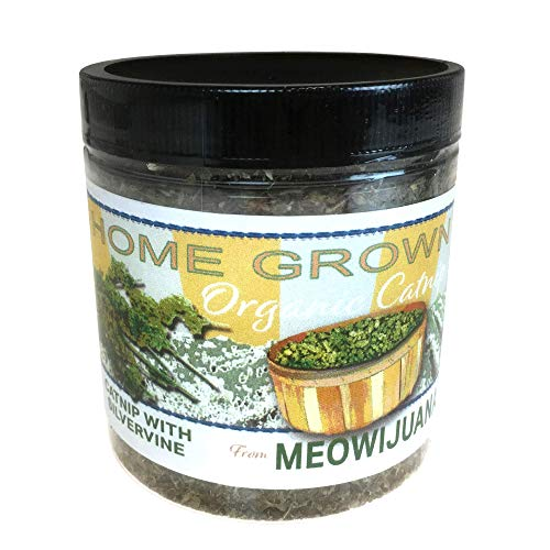 Meowijuana Catnip with Silvervine Blend, Feline Approved, Infused with Maximum Potency Your Cat is Guaranteed to go Crazy for! by Meowijuana