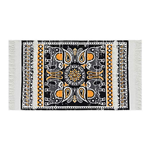 Danyerst Bohemian Geometric Cotton Woven Braided Rug With Tassels Washable Throw Doormat Floor Mat For Kitchen Bedroom Home Decor 45x70cm