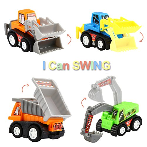 Construction Vehicle Toys For Boys : Pull back vehicles pack assorted construction