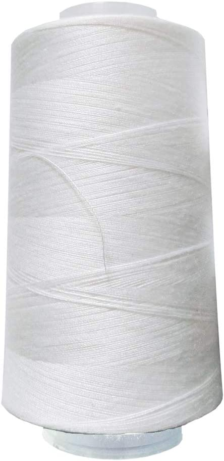 2 Spool of Polyester Sewing Thread for Sewing Machine 40S//2 White and Black