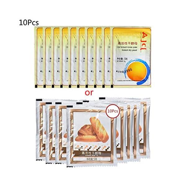 yuanmaoao, Lievito secco attivo, alta tolleranza del glucosio, per la produzione di pane, 10 x 5 g 1 spesavip