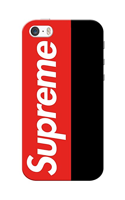 more photos 83e19 9b379 Caseria Hard Back Cover for Apple iPhone 5/5s (Red and Black)