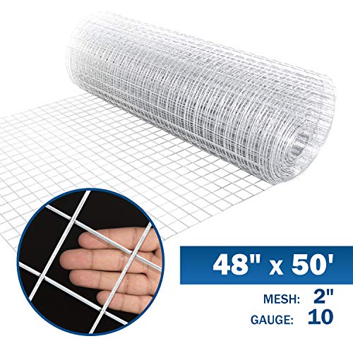 (Fencer Wire 10 Gauge Galvanized Welded Wire Mesh Size 2 inch by 2 inch (4 ft. x 50 ft.) )