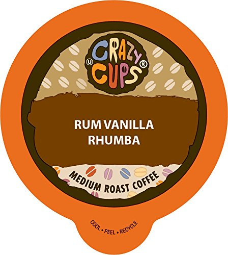 Crazy Cups Flavored Coffee, for the Keurig K Cups 2.0 Brewers, Rum Vanilla Rhumba, 22 Count (Rum Cup)