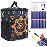 guass Target Pouch Storage - Carry Equipment Bag with 20 Bullets Darts & 2 Hooks for Nerf N-strike Elite/Mega/Rival Series