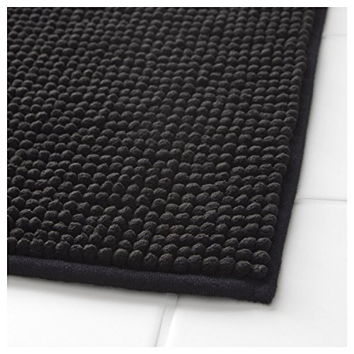 Klickpick Designs Thick Plush Bath Mats soft Bath Mat Chenille Washable Bath Rugs Microfiber shaggy Non Slip Bathroom Rug Anti Slip Absorbent Bath Rug Carpet with Non Skid Backing (Black, 24x35) Bath Rough