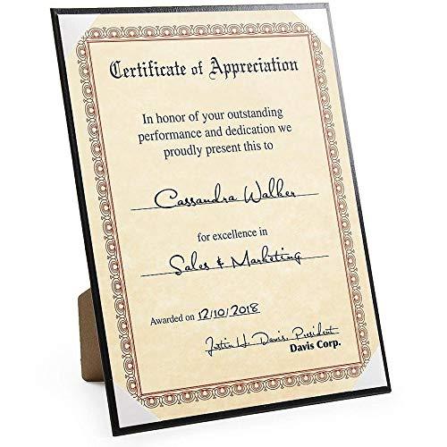 Premium Black Leatherette Certificate frame - 8.5x11