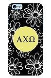 iphone 6 case chi omega - Alpha Chi Omega (AXO) Daisys Black iPhone 6 Case | Lighweight Decorative iPhone 6 Case with Glossy Finish (iPhone 6)